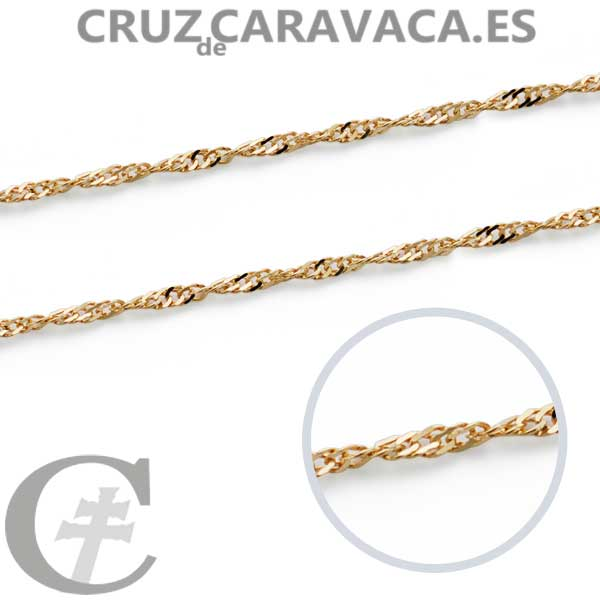ee0e46ae9294 CADENA SINGAPUR 1MM 45CMS - Cruz de Caravaca